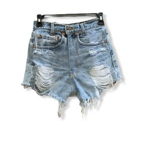 Levi's Distress Denim Shorts